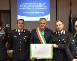 Monzuno: Emanuele Manieri premiato con la civica benemerenza