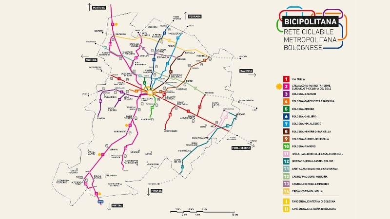 Mappa Bicipolitana bolognese - Comune di Bologna