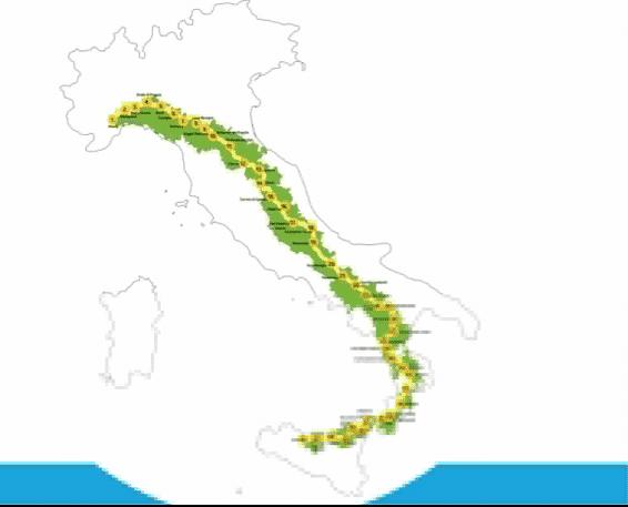 Percorso dalla Liguria alla Sicilia